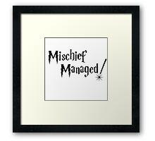 Harry Potter Mischief Managed Framed Print