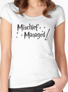 Harry Potter Mischief Managed Women's Fitted Scoop T-Shirt