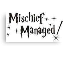 Harry Potter Mischief Managed Canvas Print