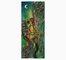 GREEN FAIRY WITH GOLD SILVER SPARKLES IN MOONLIGHT One Piece - Long Sleeve