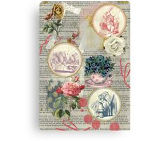 Alice floral collage Canvas Print