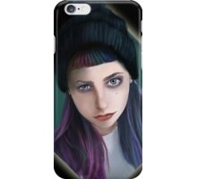punky girl iPhone Case/Skin