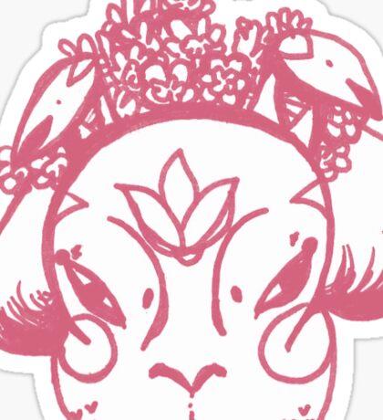 Alma de Kahlo Rosa Sticker