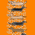 March of the Dachshunds by Diana-Lee Saville