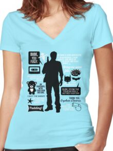 Dean Winchester Quotes Women's Fitted V-Neck T-Shirt