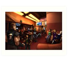 Vaelidian bar and grill Art Print