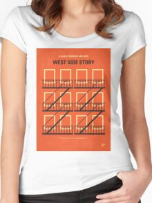 No387 My West Side Story minimal movie poster Women's Fitted Scoop T-Shirt