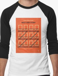 No387 My West Side Story minimal movie poster Men's Baseball ¾ T-Shirt