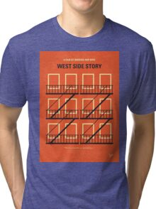 No387 My West Side Story minimal movie poster Tri-blend T-Shirt