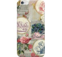 Alice floral collage iPhone Case/Skin