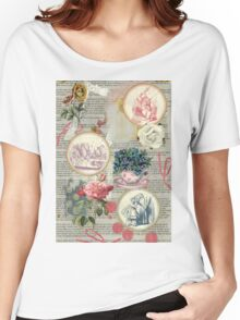Alice floral collage Women's Relaxed Fit T-Shirt