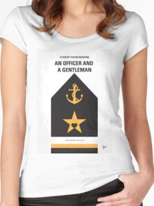 No388 My An Officer and a Gentleman minimal movie poster Women's Fitted Scoop T-Shirt