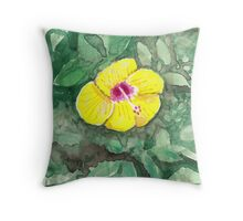 Watercolour - Hibiscus - Eumundi Throw Pillow