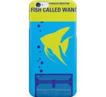 No389 My A Fish Called Wanda minimal movie poster iPhone Case/Skin