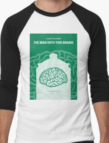 No390 My The Man With Two Brains minimal movie poster Men's Baseball ¾ T-Shirt