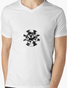 Black music speakers Mens V-Neck T-Shirt