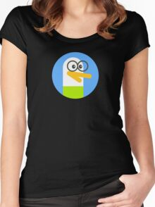 duckle duck geek Women's Fitted Scoop T-Shirt