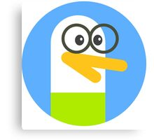 duckle duck geek Canvas Print
