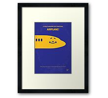 No392 My Airplane! minimal movie poster Framed Print