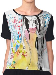 where ever the flowers goes Chiffon Top