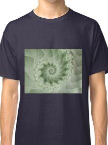 Beautiful Green Spiral Fractal  Classic T-Shirt