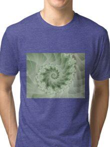 Beautiful Green Spiral Fractal  Tri-blend T-Shirt
