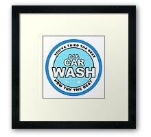 A1 car wash - Breaking Bad Framed Print