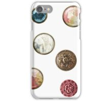 Alice in Wonderland buttons iPhone Case/Skin