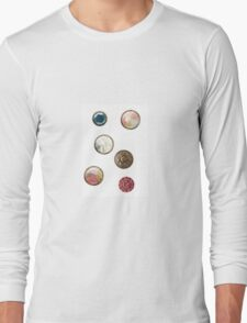Alice in Wonderland buttons Long Sleeve T-Shirt