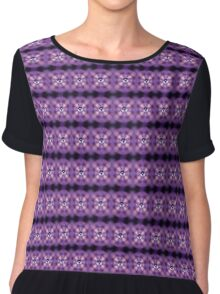 Music speaker on a purple background Chiffon Top