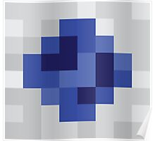 Fountain of Round Blue Poster