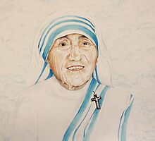 Mother Teresa by evonealawi