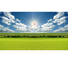 RICK AND MORTY SCREAMING SUN LANDSCAPE Photographic Print