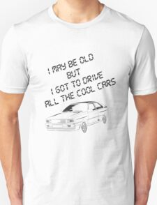 Gift for your Dad - cool Audi outline and text Unisex T-Shirt