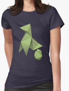 Mom/Dad Paper Bird - Origami Womens Fitted T-Shirt