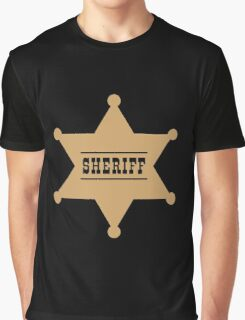 Sheriff's Star Graphic T-Shirt