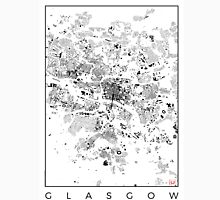Glasgow Map Schwarzplan Only Buildings Urban Plan Unisex T-Shirt