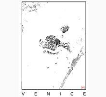 Venice Map Schwarzplan Only Buildings Urban Plan Unisex T-Shirt