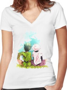 Hunter x Hunter-Gon Freecss & Killua Zoldyck Women's Fitted V-Neck T-Shirt