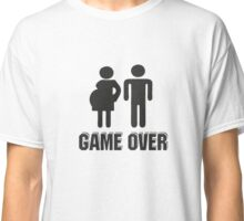 Funny T-Shirt for Dad Mum - Game over Classic T-Shirt