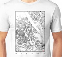 Vienna Map Schwarzplan Only Buildings Urban Plan Unisex T-Shirt
