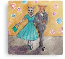 50s style couple  Metal Print