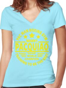 Manny Pacquiao Boxing Gym Women's Fitted V-Neck T-Shirt