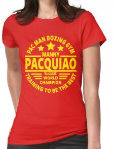 Manny Pacquiao Boxing Gym Womens Fitted T-Shirt
