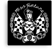 Miss Fortune Race Starter Rockabilly Girl Canvas Print