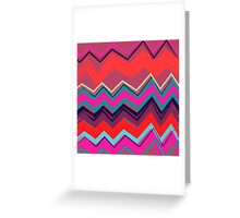 Fresh Painted Chevron Greeting Card