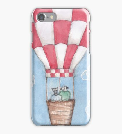 Old fashion hot air balloon.  iPhone Case/Skin