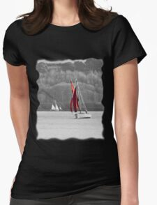 Isolated Yacht Carrick Roads Womens Fitted T-Shirt