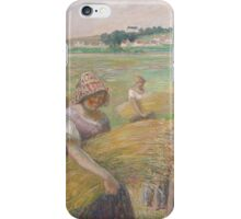 Camille Pissarro - The Harvest 1882 American Landscape French Impressionism Landscape iPhone Case/Skin