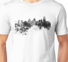Cincinnati skyline in black watercolor Unisex T-Shirt